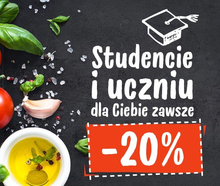 Studencie i uczniu dla Ciebie zawsze -20%